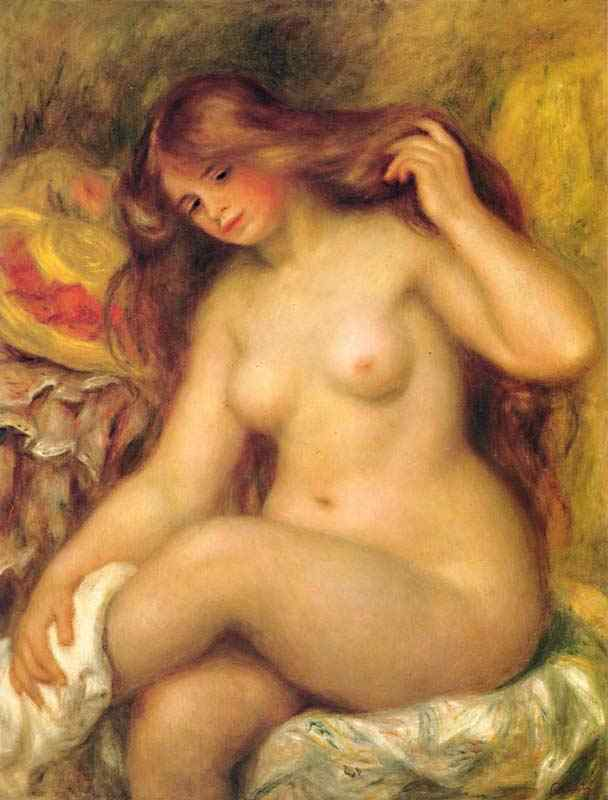 Pierre-Auguste Renoir - Banhista sentada