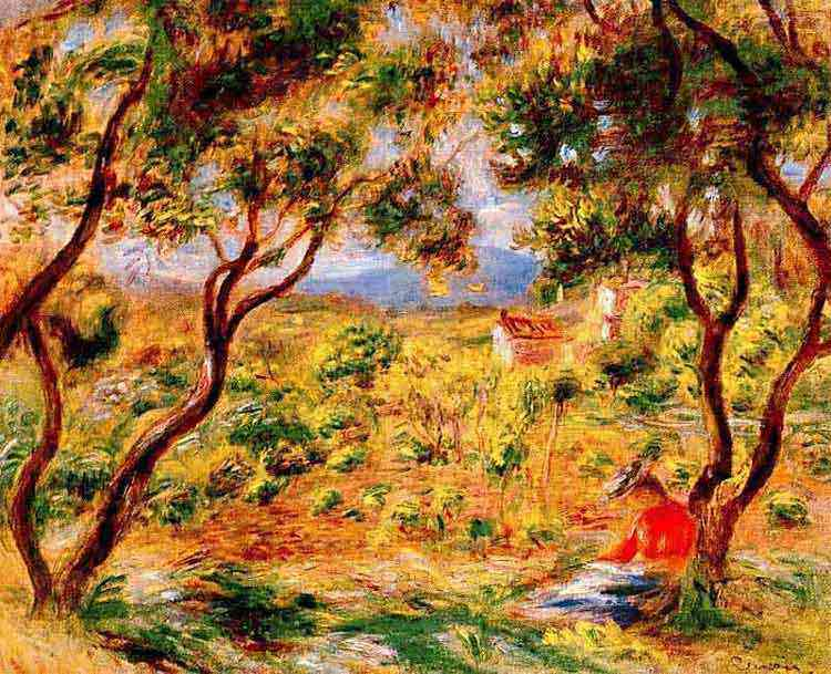 Pierre-Auguste Renoir - As videiras de Cagnes