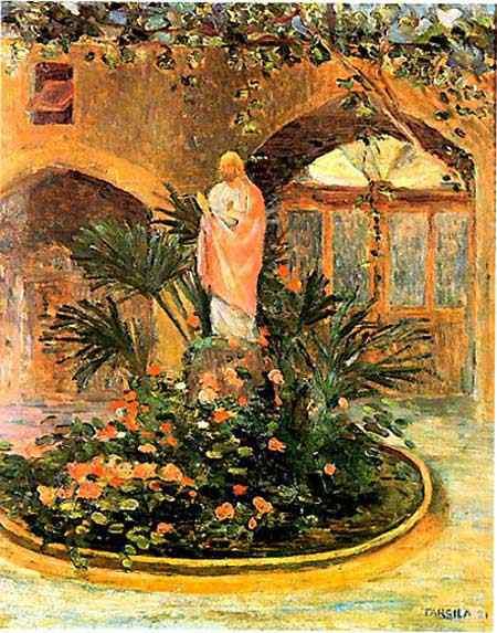 Tarsila do Amaral - Pátio com Coração de Jesus