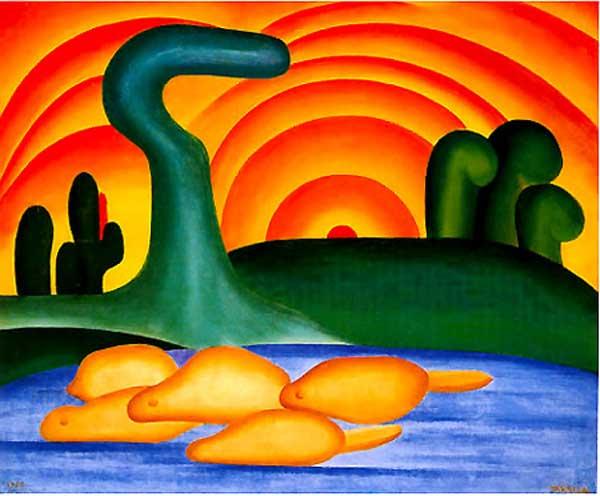 Tarsila do Amaral - Sol poente