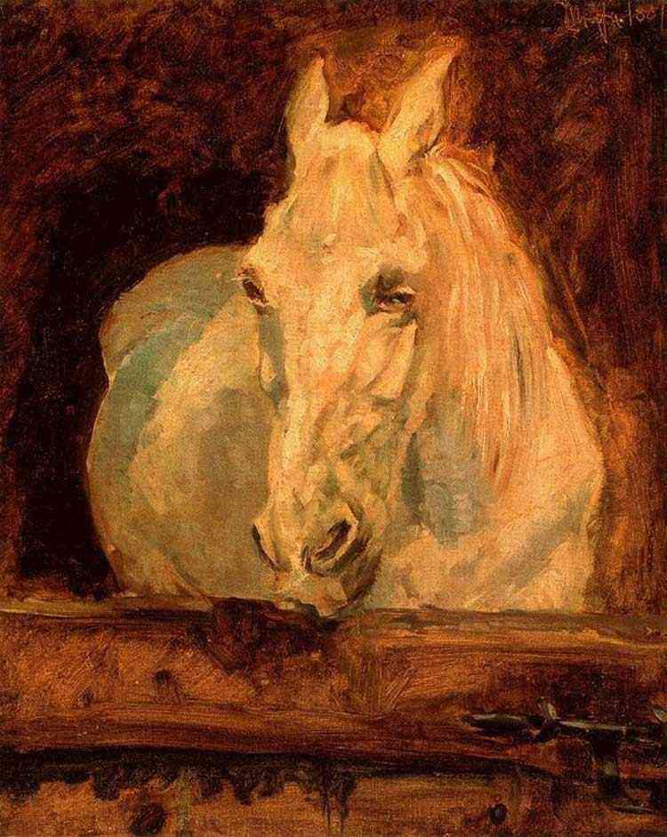 """Henri de Toulouse-Lautrec - Cavalo branco """"Gazelle"""""""