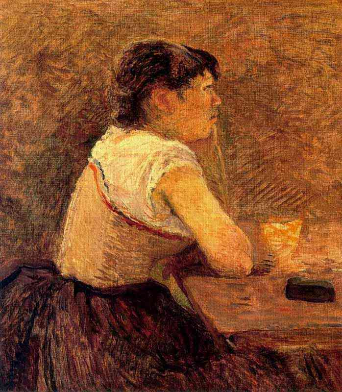 Henri de Toulouse-Lautrec - Bebedora de absinto em Grenelle