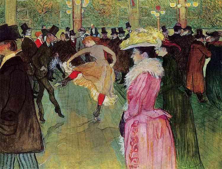 Henri de Toulouse-Lautrec - Dança no Moulin Rouge