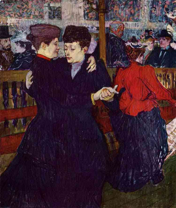 Henri de Toulouse-Lautrec - No Moulin Rouge: as duas Waltzers