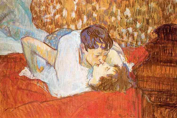 Henri de Toulouse-Lautrec - O beijo