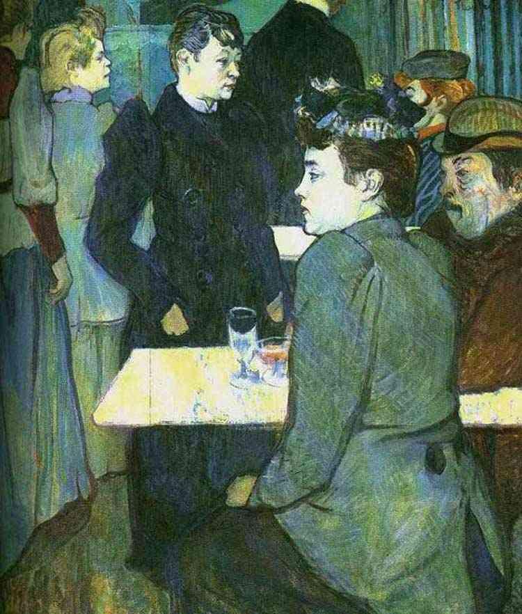 Henri de Toulouse-Lautrec - Um canto no salão de dança