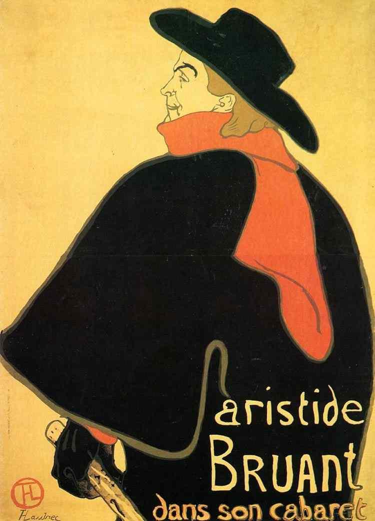 Henri de Toulouse-Lautrec - Aristides Bruand no seu cabaré