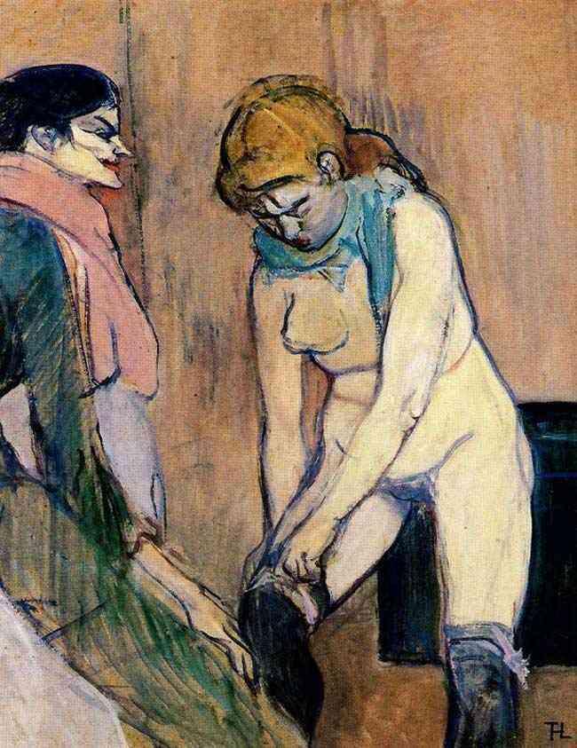 Henri de Toulouse-Lautrec - Mulher levantando as meias