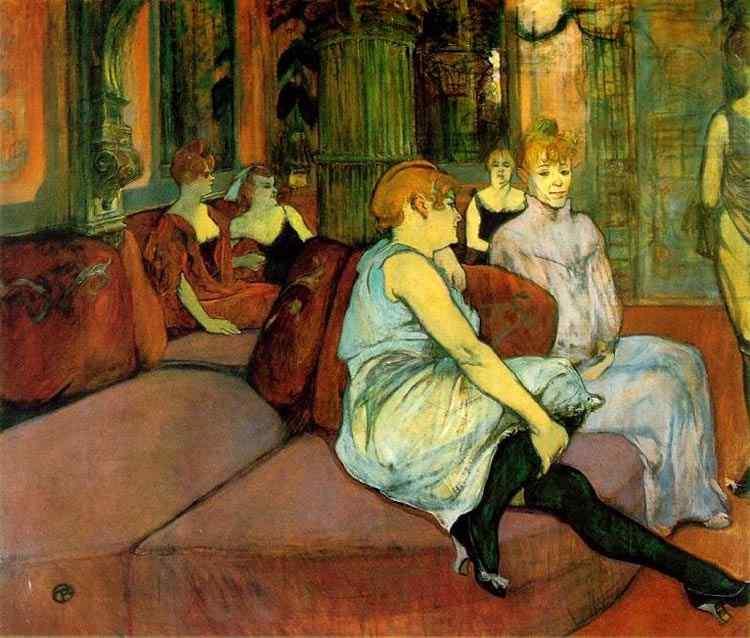 Henri de Toulouse-Lautrec - Na sala em Rue des Moulins
