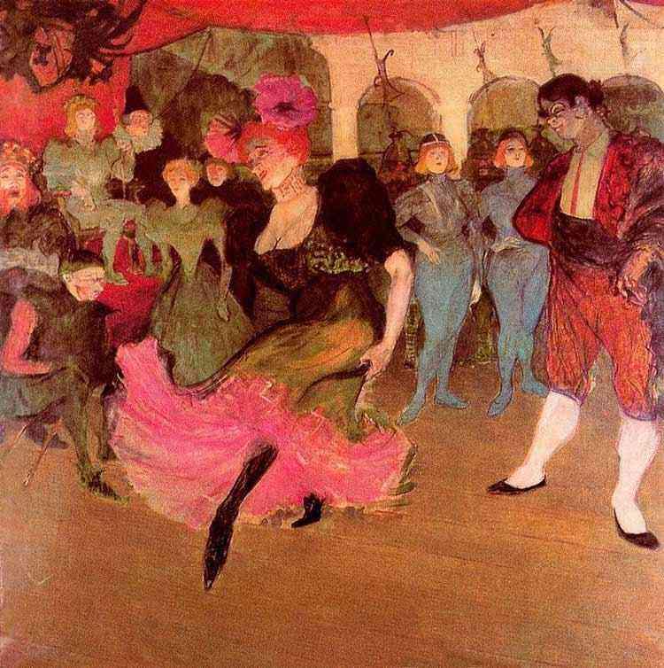 Henri de Toulouse-Lautrec - Mademoiselle Marcelle Lender dançando no Chilpéric