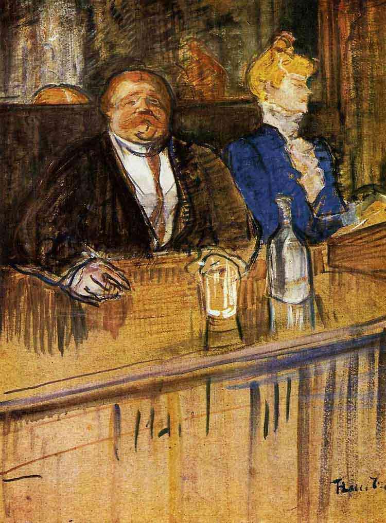 Henri de Toulouse-Lautrec - No café: o cliente e a caixa
