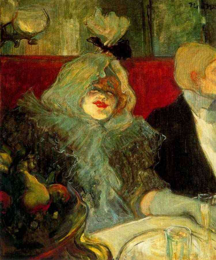 "Henri de Toulouse-Lautrec - Em sala privada do ""Rat Mort"""