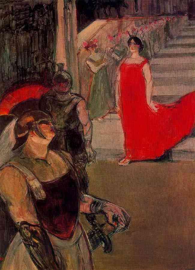 """Henri de Toulouse-Lautrec - Ópera """"Messalina"""" em Bordeaux"""