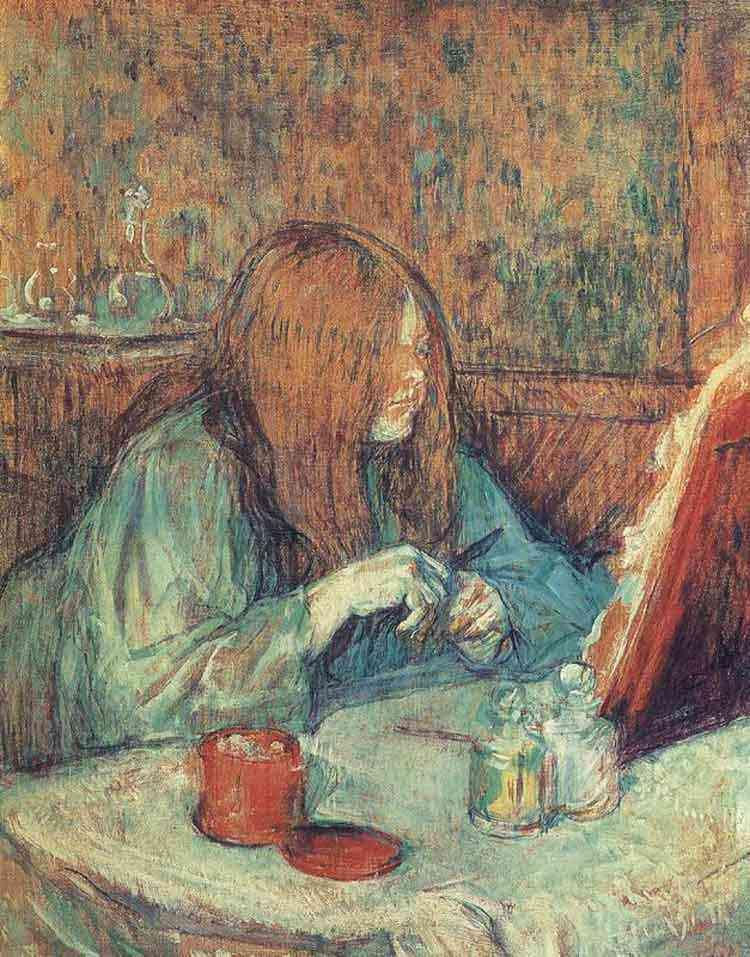Henri de Toulouse-Lautrec - A toilete