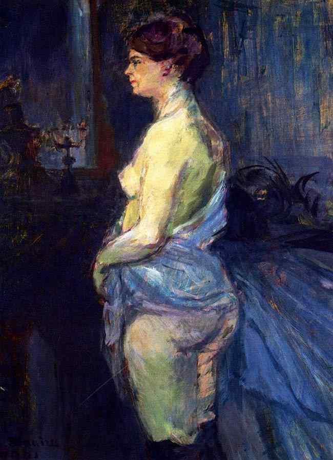 Henri de Toulouse-Lautrec - Mulher levantando a camisola