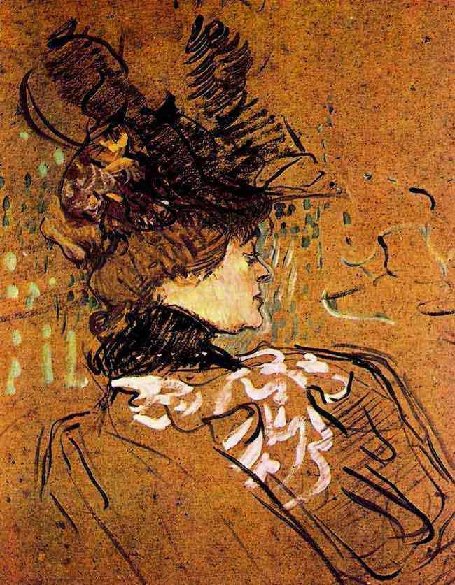 Henri de Toulouse-Lautrec - Perfil de mulher