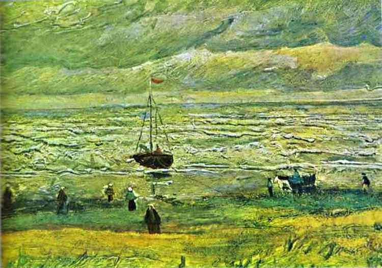 Vincent Van Gogh - Praia em Scheveningen