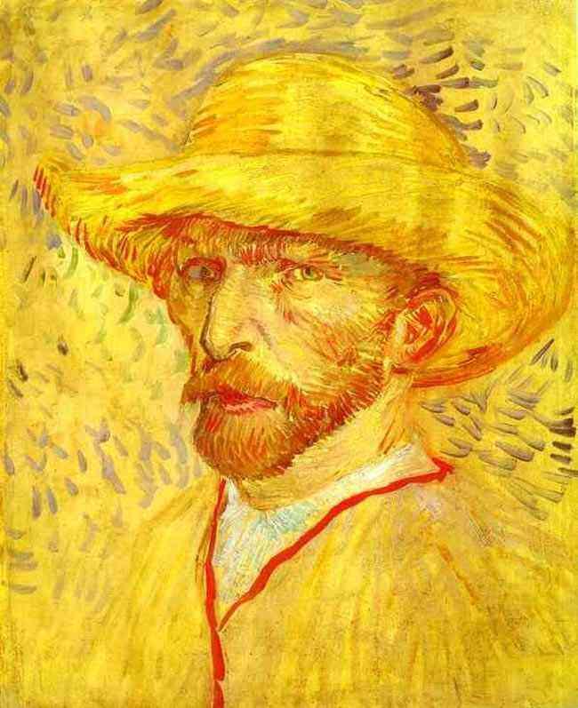 Vincent Van Gogh - Auto-retrato com chapéu de palha