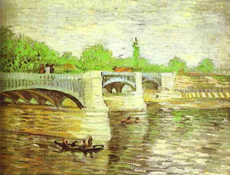 Vincent Van Gogh - O Sena com a Ponte de La Grande Jatte