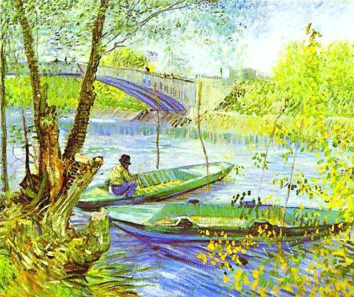 Vincent Van Gogh - Pescando na primavera, Ponte de Clichy