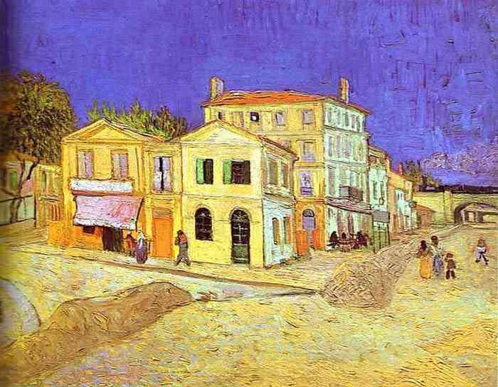 Vincent Van Gogh - Casa de Vincent em Arles (a casa amarela)