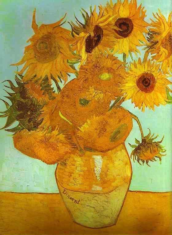 Vincent Van Gogh - Doze girassóis em um vaso