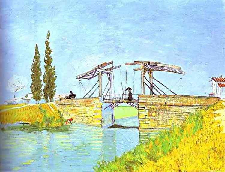Vincent Van Gogh - Ponte Móvel com senhora de guarda-sol
