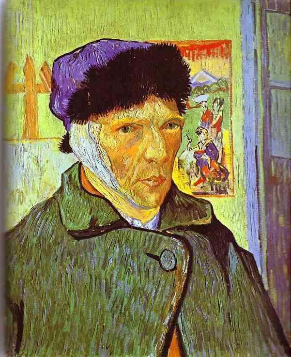 Vincent Van Gogh - Auto-retrato  com a orelha enfaixada