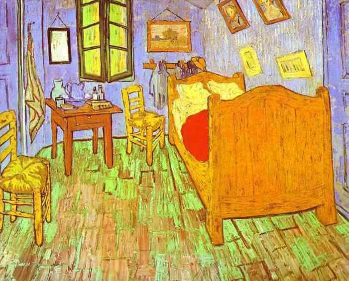 Vincent Van Gogh - O quarto de van Gogh en Arles - Saint Rémy