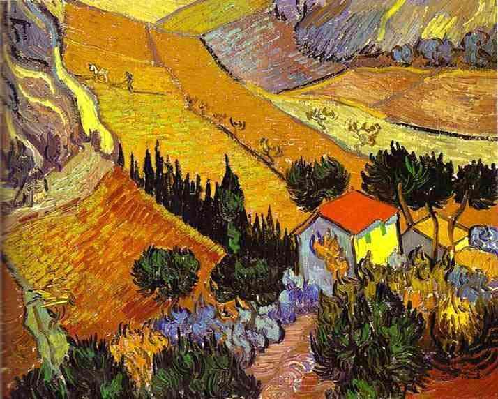 Vincent Van Gogh - Paisagem com casa e lavoura