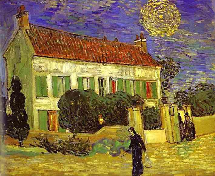 Vincent Van Gogh - A casa branca na noite
