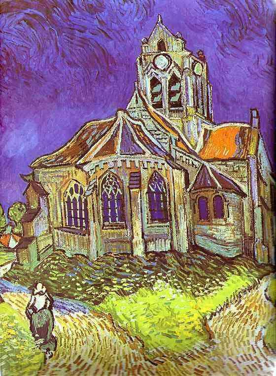 Vincent Van Gogh - Igreja em Auvers