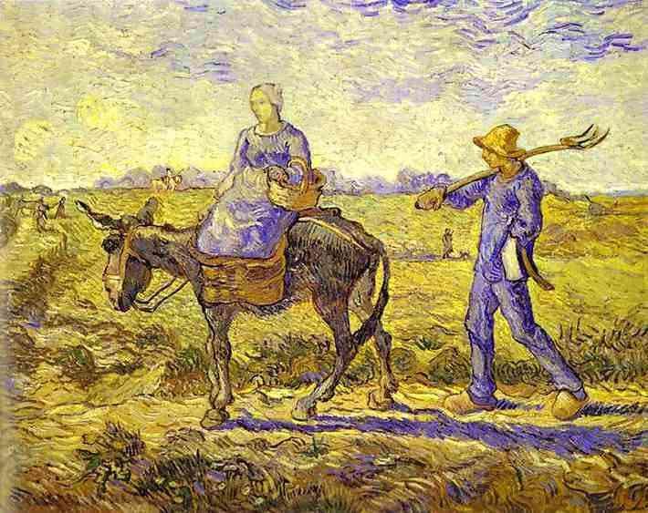 Vincent Van Gogh - Manhã, ida para o trabalho