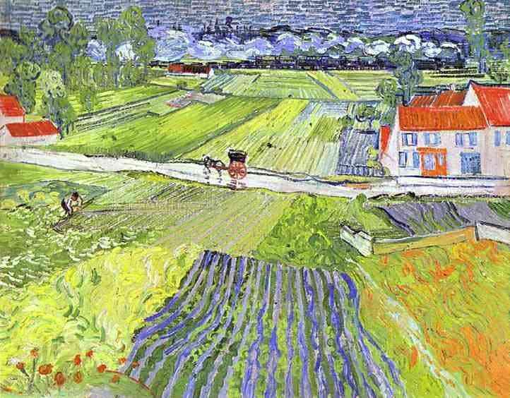 Vincent Van Gogh - Uma estrada em Arves, depois da chuva
