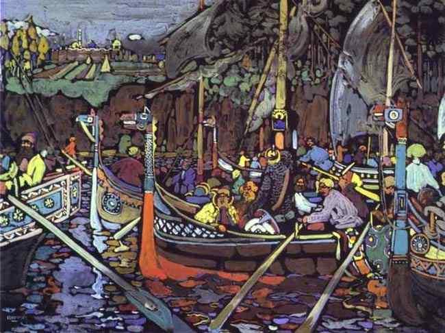 Wassily Kandinsky - A canção de Volga